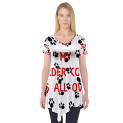 My Border Collie Walks On Me Short Sleeve Tunic