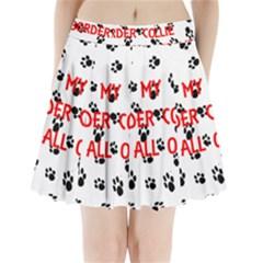 My Border Collie Walks On Me Pleated Mini Skirt