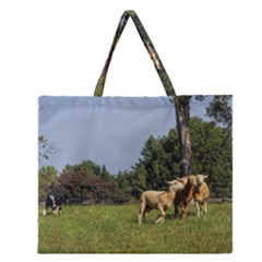 Border Collie Working Zipper Large Tote Bag