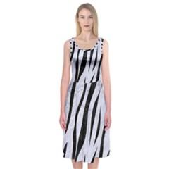 SKN3 BK-WH MARBLE (R) Midi Sleeveless Dress