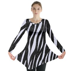 Skin3 Black Marble & White Marble Long Sleeve Tunic