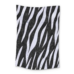 Skin3 Black Marble & White Marble Small Tapestry