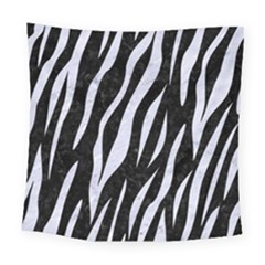 Skin3 Black Marble & White Marble Square Tapestry (large)