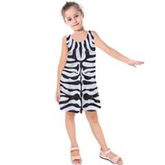 SKN2 BK-WH MARBLE (R) Kids  Sleeveless Dress