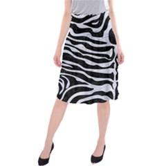 SKN2 BK-WH MARBLE Midi Beach Skirt