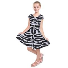 SKN2 BK-WH MARBLE Kids  Short Sleeve Dress