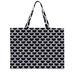 SCA3 BK-WH MARBLE Large Tote Bag