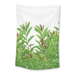 Tropical Floral Print Small Tapestry