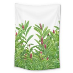 Tropical Floral Print Large Tapestry