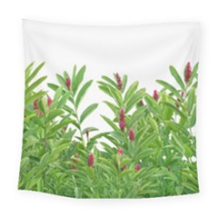 Tropical Floral Print Square Tapestry (large)