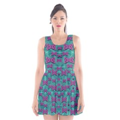 Peace And Freedom Over The Sea Of Softness Scoop Neck Skater Dress