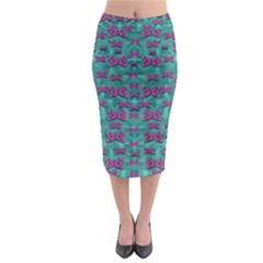 Peace And Freedom Over The Sea Of Softness Midi Pencil Skirt