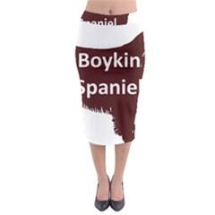 Boykin Spaniel Color Name Silo Midi Pencil Skirt