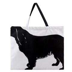 Boykin Spaniel Silo Black Zipper Large Tote Bag