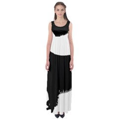 Boykin Spaniel Silo Black Empire Waist Maxi Dress