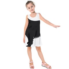 Boykin Spaniel Silo Black Kids  Sleeveless Dress