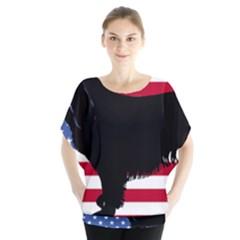 Boykin Spaniel Silhouette Usa Flag Blouse