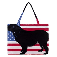 Boykin Spaniel Silhouette Usa Flag Medium Tote Bag