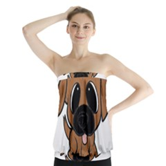 Bullmastiff Fawn Cartoon Strapless Top