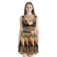 Bullmastiff Full Split Back Mini Dress