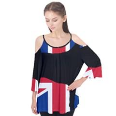 Bullmastiff Silhouette Flag United Kingdom Flutter Tees