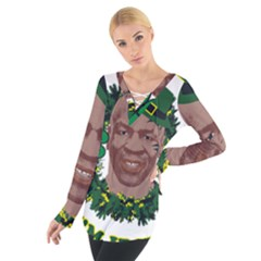 Kith Me I m Irith, Mike Tyson St Patrick s Day Design Women s Tie Up Tee
