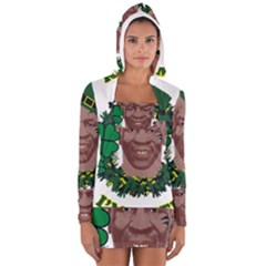 Kith Me I m Irith, Mike Tyson St Patrick s Day Design Women s Long Sleeve Hooded T-shirt