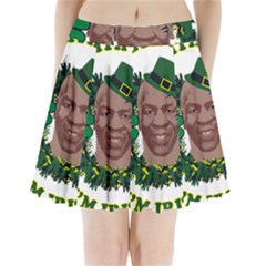 Kith Me I m Irith, Mike Tyson St Patrick s Day Design Pleated Mini Skirt