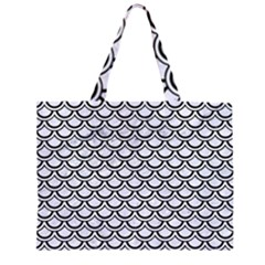 SCA2 BK-WH MARBLE (R) Large Tote Bag