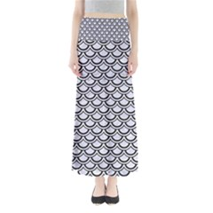 SCA2 BK-WH MARBLE (R) Maxi Skirts