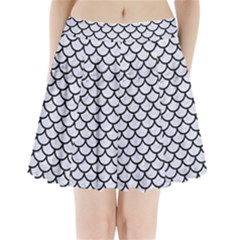 SCA1 BK-WH MARBLE (R) Pleated Mini Skirt