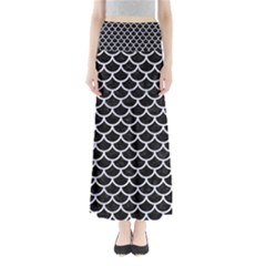 SCA1 BK-WH MARBLE Maxi Skirts