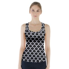 SCA1 BK-WH MARBLE Racer Back Sports Top