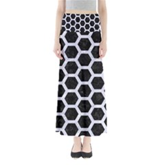 HXG2 BK-WH MARBLE Maxi Skirts