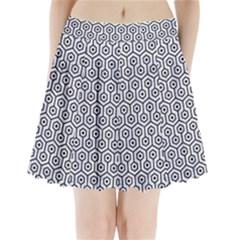 HXG1 BK-WH MARBLE (R) Pleated Mini Skirt