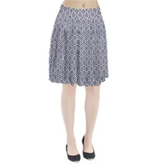 HXG1 BK-WH MARBLE (R) Pleated Skirt