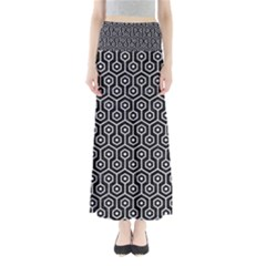 HXG1 BK-WH MARBLE Maxi Skirts