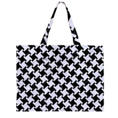 HTH2 BK-WH MARBLE Large Tote Bag