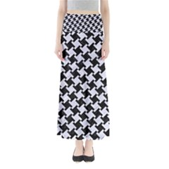 HTH2 BK-WH MARBLE Maxi Skirts