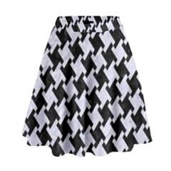 HTH2 BK-WH MARBLE High Waist Skirt