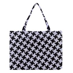 HTH2 BK-WH MARBLE Medium Tote Bag