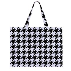 HTH1 BK-WH MARBLE Large Tote Bag