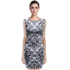 DMS1 BK-WH MARBLE (R) Classic Sleeveless Midi Dress