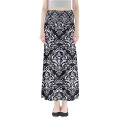 DMS1 BK-WH MARBLE Maxi Skirts