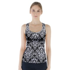 DMS1 BK-WH MARBLE Racer Back Sports Top