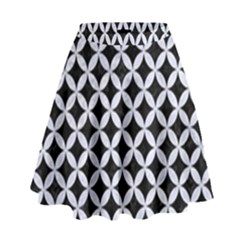 CIR3 BK-WH MARBLE High Waist Skirt