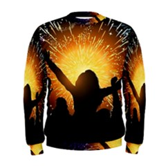 Celebration Night Sky With Fireworks In Various Colors Men s Sweatshirt