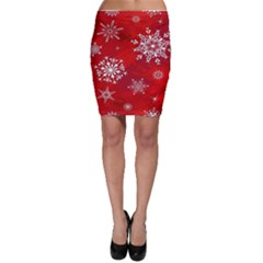 Christmas Pattern Bodycon Skirt