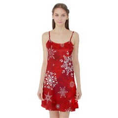 Christmas Pattern Satin Night Slip