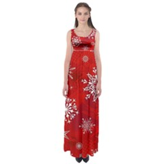 Christmas Pattern Empire Waist Maxi Dress